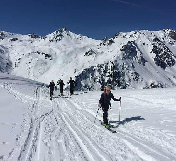 Ski touring in Chamonix with Mountain Adventure Guides